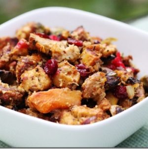 Millet, Butternut Squash, Brussels Sprout & Cranberry Stuffing