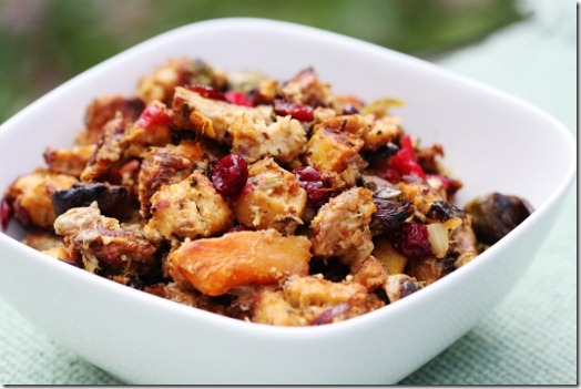 Millet, Butternut Squash, Brussels Sprout & Cranberry Stuffing | The Full Helping