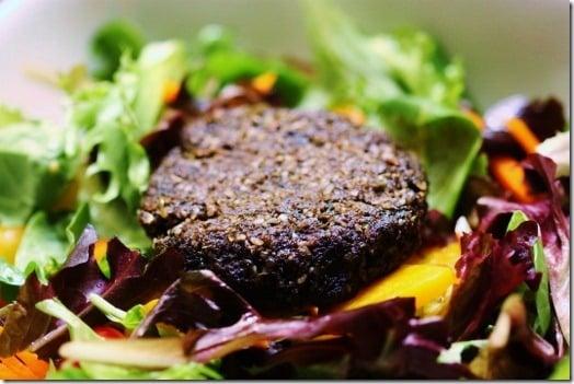 Raw Vegan Mushroom Burgers
