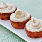 Raw, Vegan Carrot Cake Cupcakes with Cream Cheese Frosting