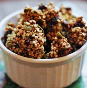 Raw Low Fat Apple Cinnamon Raisin Buckwheat Granola