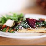 Christmas Recap; Chickpea Tart with Roast Potatoes, Sauteed Swiss Chard, Beets, and Cashew Cheese