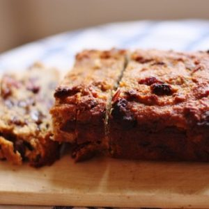 Almond and Chickpea Bread with Dried Fruit