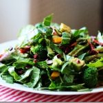 Green Monster Salad (Collards and Spinach with Avocado, Sun Dried Tomato, and Broccoli)