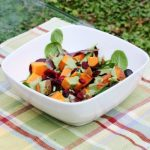 Sweet Potato Breakfast Salad with Almond Butter Protein Dressing