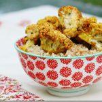 Raw Cauliflower Curry Over Rice