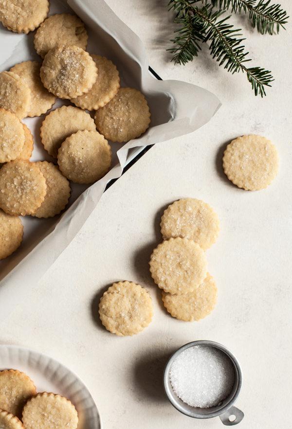 Vegan Vanilla Almond Sugar Cookies