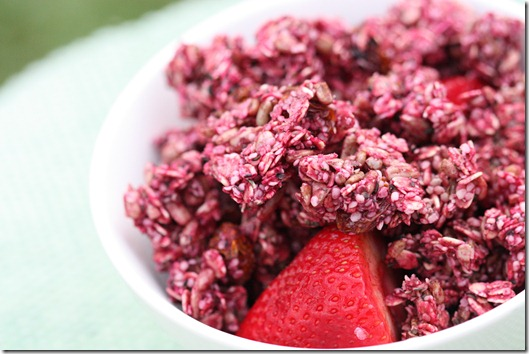 raw vegan beet hemp granola