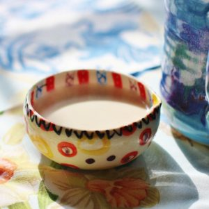 homemade almond milk coffee creamer vegan