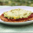 raw pizza with quinoa buckwheat crust