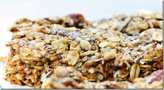Speedy, No Bake Omega-3 Vegan Snack Bars