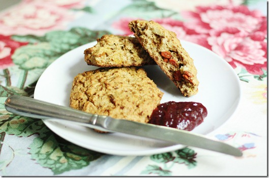 vegan gluten free strawberry scones
