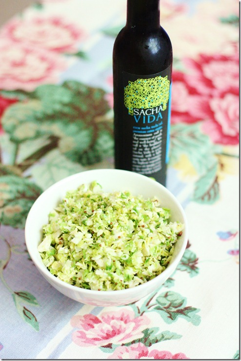 raw brussels sprout salad mustard dressing