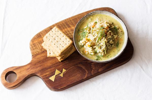 Vegan Avgolemono (Greek Easter Soup with Lemon) | The Full Helping