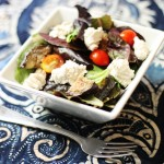 Vegan Eggplant Caprese Salad with Lemon Pepper Brazil Nut Cheese