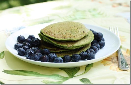 gluten free vegan green pancakes