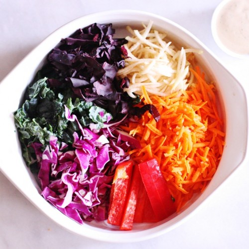 raw vegan rainblow slaw