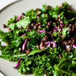 Raw Kale Salad with Puy Lentils and Sweet Apricot Vinaigrette