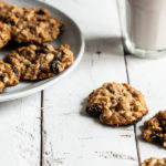 Almond Cherry Oat Cookies
