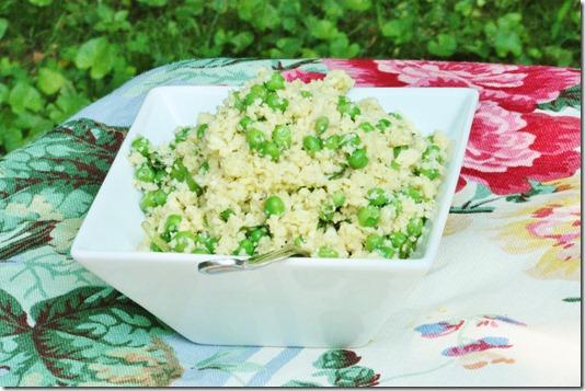 Parsnip Rice with Hemp Seeds, Spring Peas, and Basil