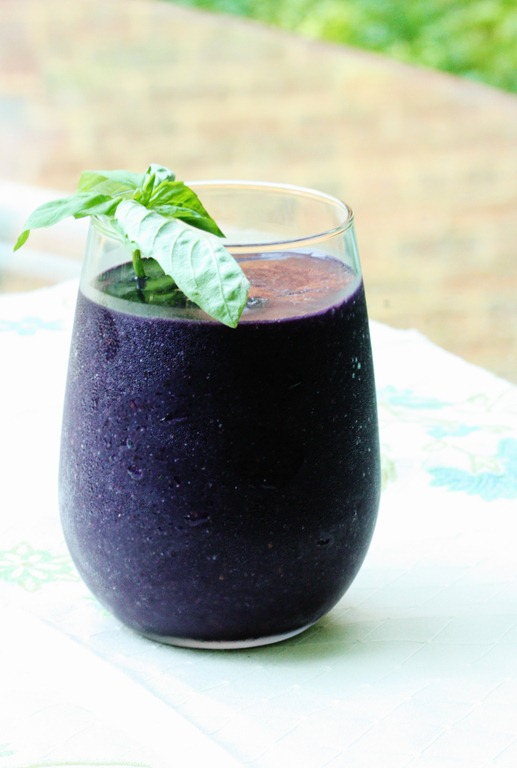 Pre-apocalyptic Blackberry Basil Smoothie   The Full Helping