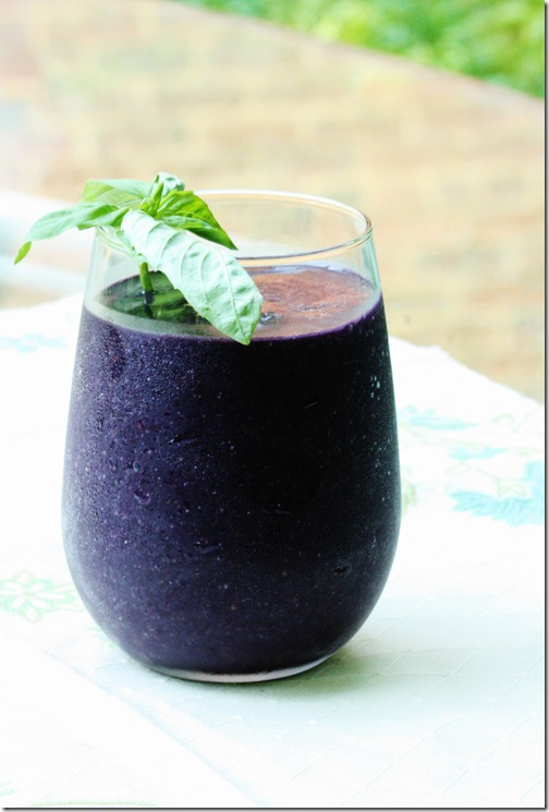 Blackberry basil smoothie