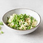 Parsnip Rice with Hemp Seeds, Spring Peas, and Basil | The Full Helping