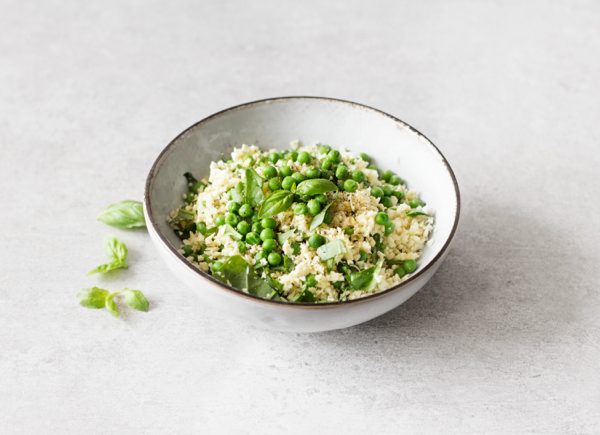 Parsnip Rice with Hemp Seeds, Spring Peas, and Basil   The Full Helping