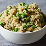 Lemon Herb Quinoa with Hemp Seeds, Spring Peas, and Basil