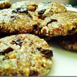 After School Snack: Almond and Hempseed Cookies with Sour Cherries