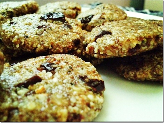 almond hemp cherry cookies raw