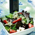 My Recipe for Tofu Ricotta, and a Strawberry Basil Salad with Tofu Ricotta and Balsamic Dressing