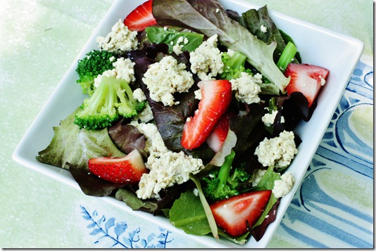 My Recipe for Tofu Ricotta, and a Strawberry Basil Salad with Tofu ...