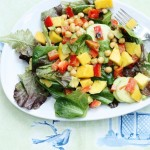 Summer Salad with Mango, Cucumber, Avocado, and Curry Vinaigrette