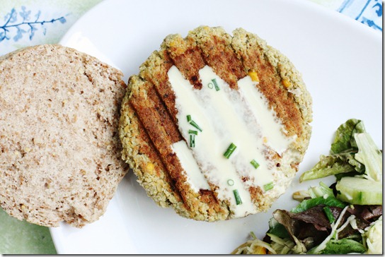 Quinoa Chickpea Burgers with Za'atar Spice and Creamy ...