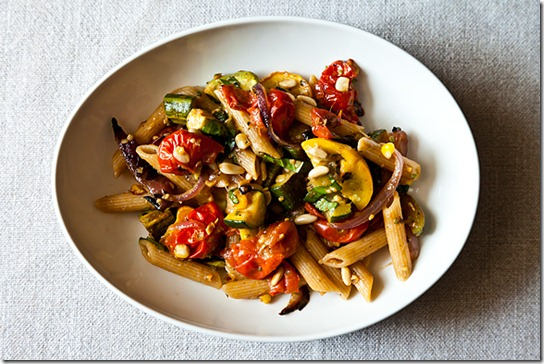 vegan roast vegetable pasta