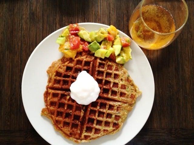 Sunday Brunch: Gluten Free, Vegan Bread Zucchini Waffles with Mango ...