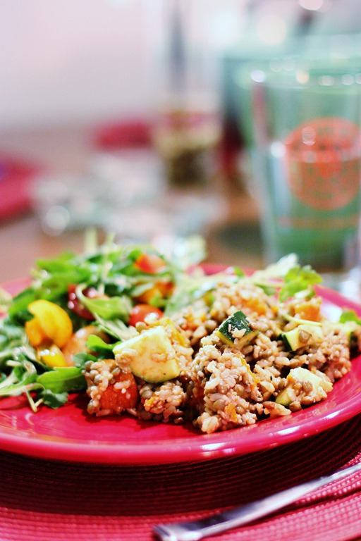 Easy, Healthy Entrée: Brown Rice, Sweet Potato, and Puy ...