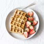Vegan, Gluten Free Strawberry Pumpkin Waffles
