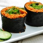 Raw Carrot Coriander Rice