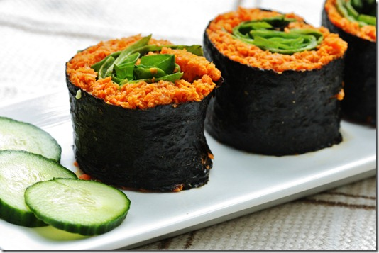 raw carrot rice