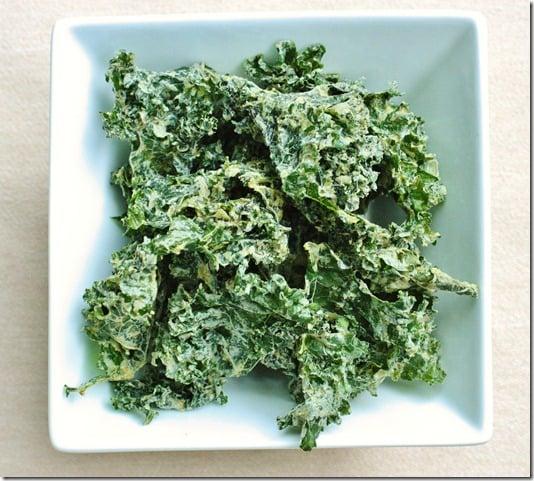 garlic hemp kale chips