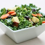 Season's Best: Kale Salad with Carrots, Apples, Raisins, and Creamy Curry Dressing
