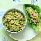 leek and cannellini bean salad