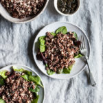 Red Quinoa, Pumpkin Seed, and Tahini Salad