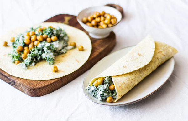 Tortillas with Creamy Chickpeas and Kale   The Full Helping