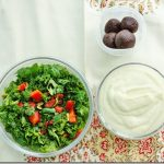 Packed Lunch: Kale Salad with Goji Berries and Pumpkin Seeds; Cauliflower Parsnip Soup