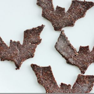 Going Batty: Raw Walnut, Carob, and Cinnamon Cookies for Halloween