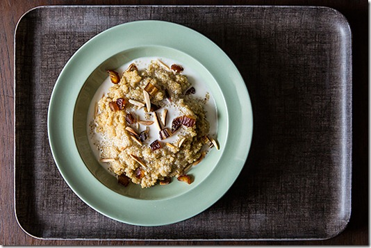toasted almond quinoa coconut breakfast