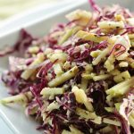 Crunchy Red Cabbage and Green Apple Sesame Slaw